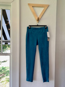 Faux Suede Pull On Pant Baltic Blue