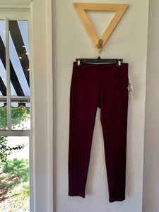 Faux Suede Pull On Pant Eggplant