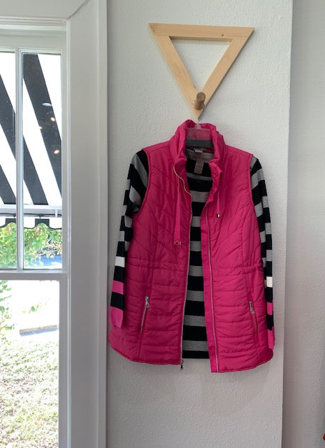 Color Me Chic Vest Hot Pink