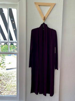 Sweater Knit Duster Eggplant