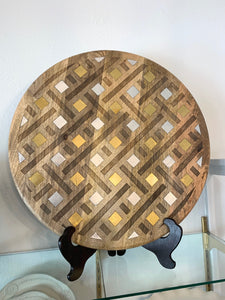 Lazy Susan Inlay Laser Weave