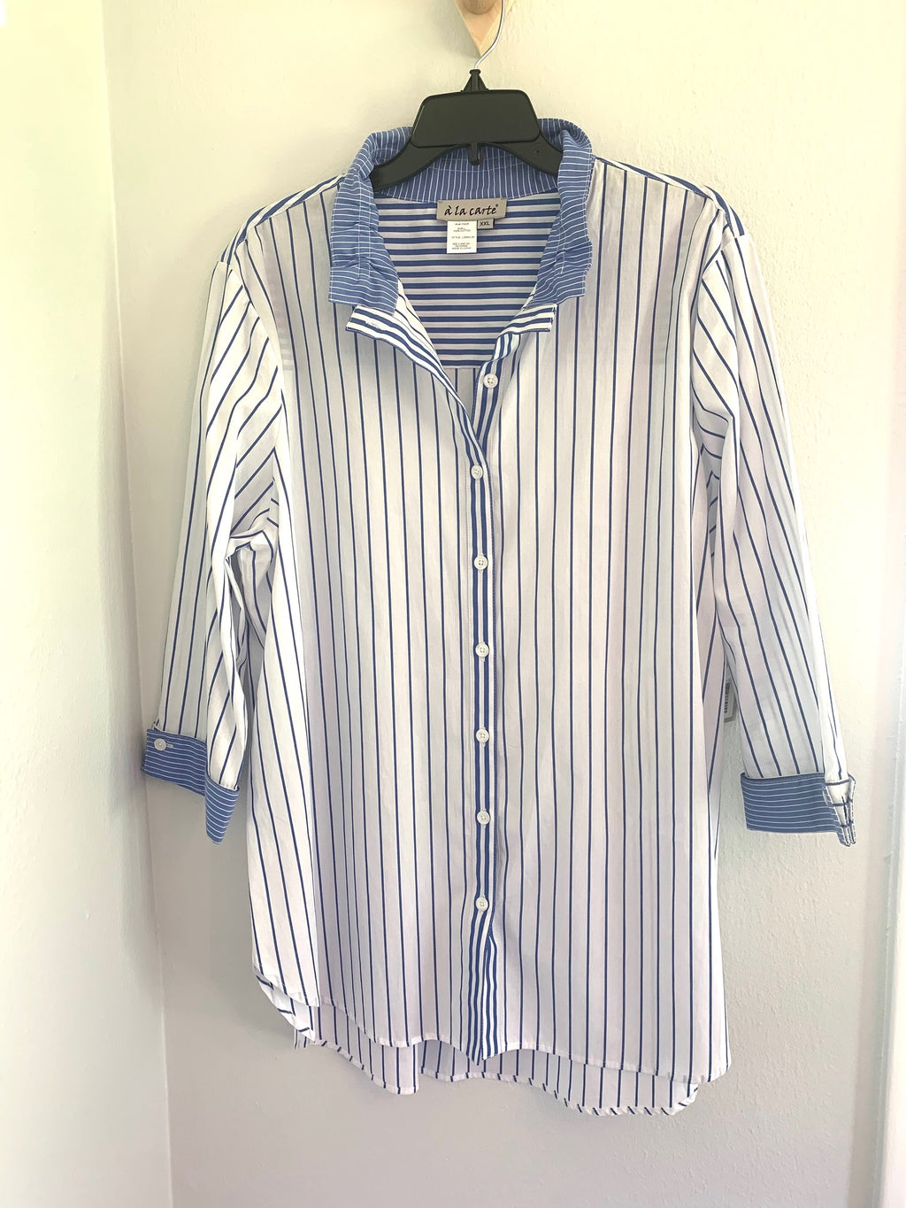 Summer Dream Striped Indigo Top
