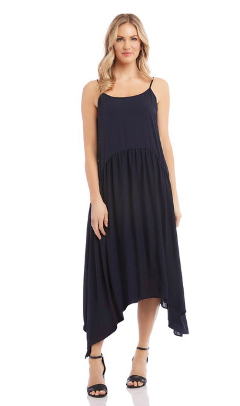 Shirred Cathi Dress Black