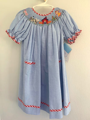 Harvest Smocked Bishop Dress