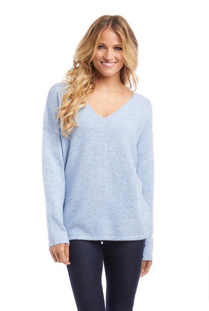 Better Sweaters V-Neck Sweater Light Blue