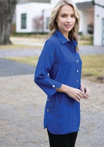 Kaleidoscope Top With Pockets Cobalt