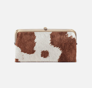 Lauren Clutch Wallet Cow Print