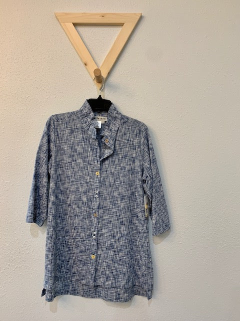 Novelty Button Shirt Chambray