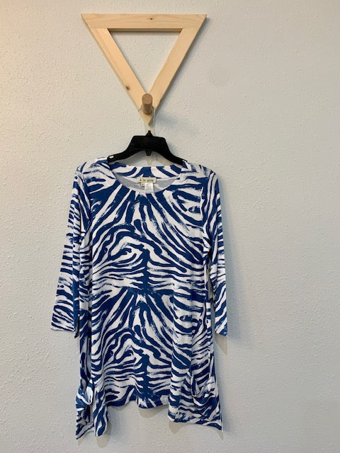 Blue Zebra Tunic With Pockets
