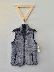 Faux Fur Vest Heather Blue