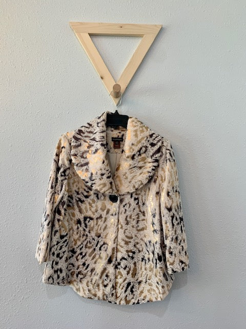 Faux Fur Jacket Animal Print