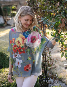 Global Glam Floral Pullover