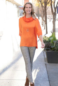 Cowl Neck Top and Thin Her Slim Line Ankle Pant