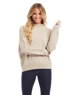 Better Sweaters Mock Neck Sweater and Cardigan