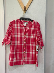 Southern Skies Plaid Top