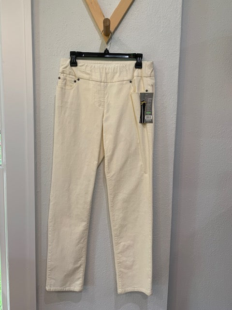 Pull On Wide Band Corduroy Pant Winter White