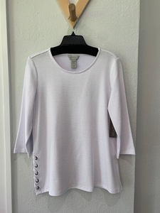 Zanzibar Scoop Neck Top White