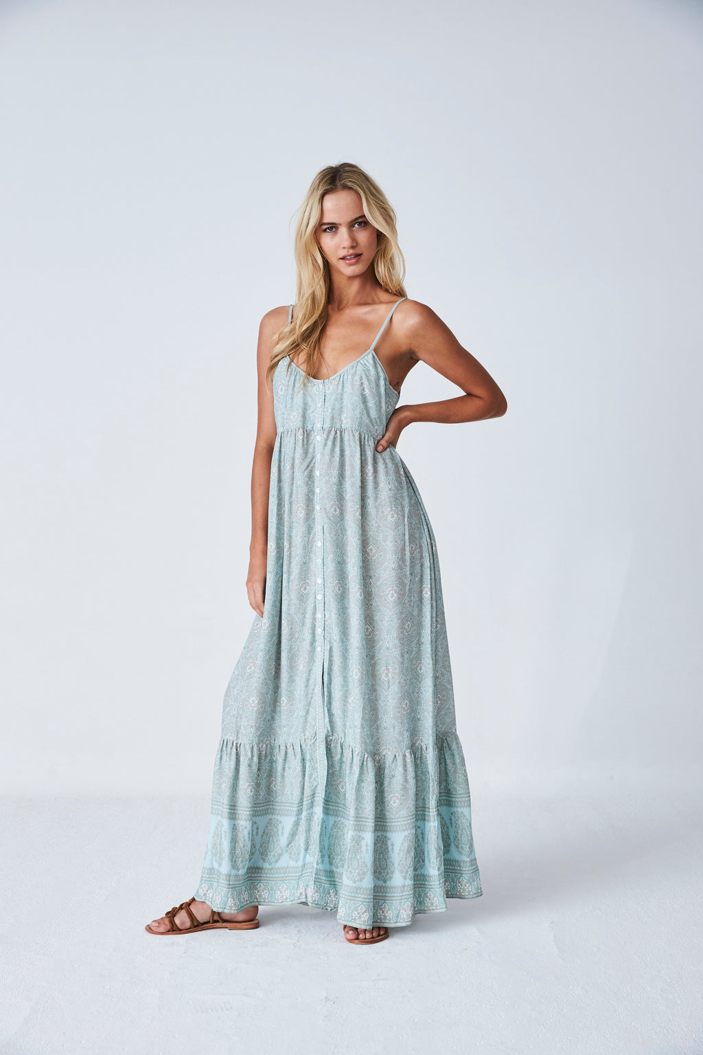 Kashmir Maxi Dress in Cloud