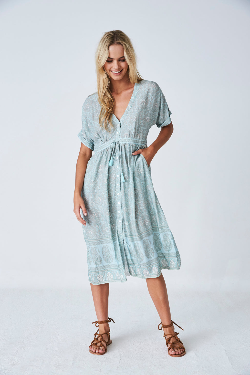 Haveli Midi dress in Cloud