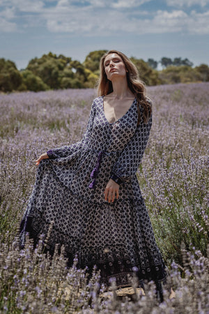 Wild Beauty Maxi Dress - Indigo Violet