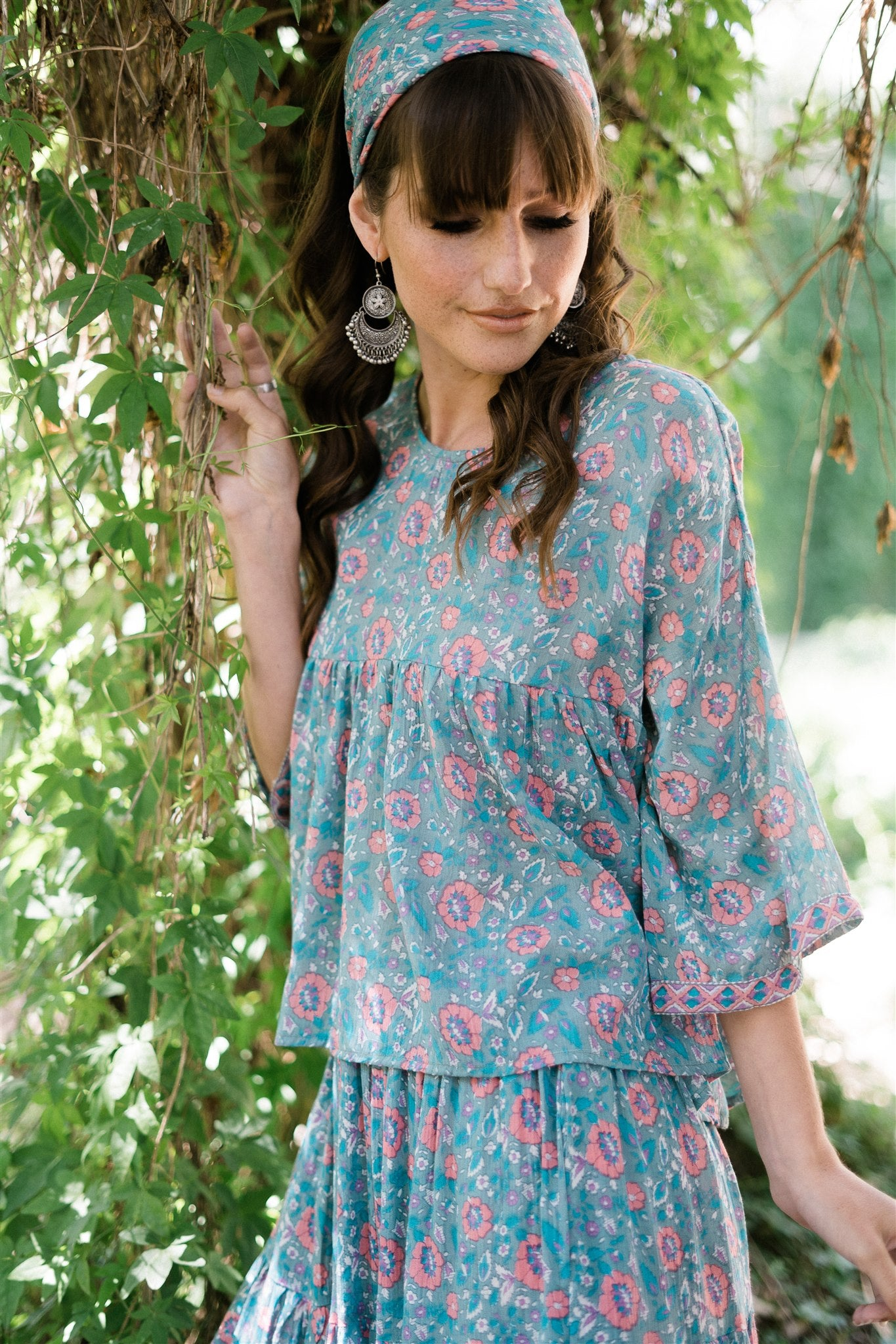 Wild Thing Blouse in Wild Orchard