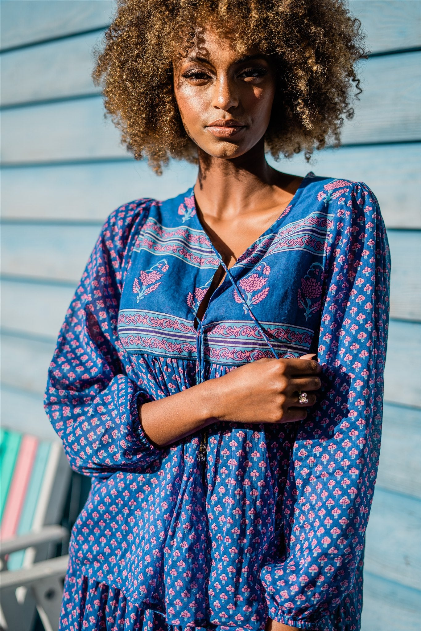 Gypsy Girl Blouse - Blue Iris