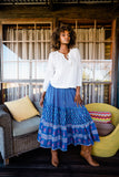 Gypsy Girl Skirt - Blue Iris
