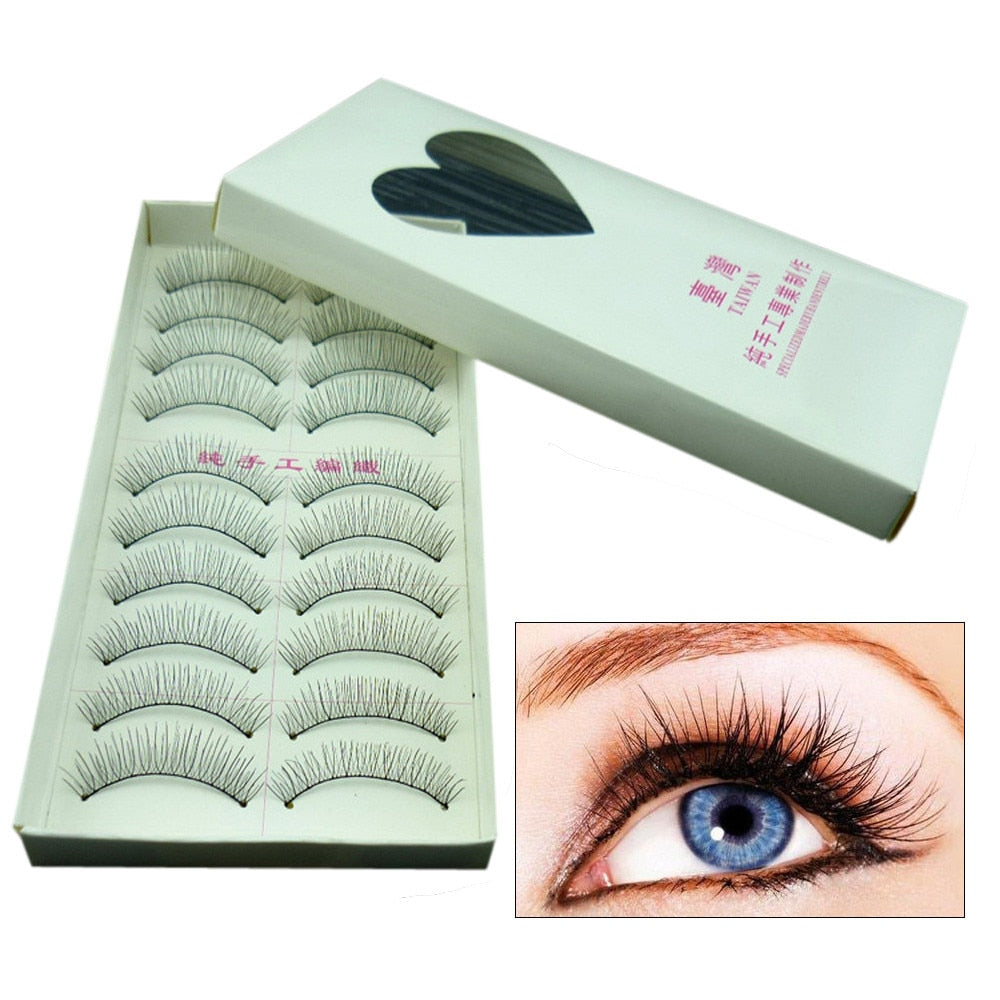 10 Pairs Natural Fashion Long False Eyelashes