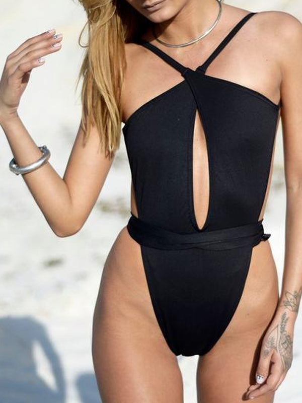 RETRO SWIMSUIT // BLACK
