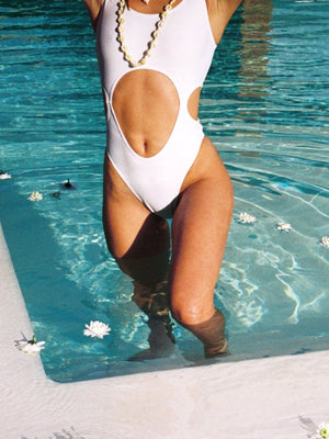 PLAYTIME WHITE // SWIMSUIT