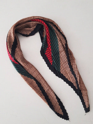 MINI PLAID TEXTURE SCARF