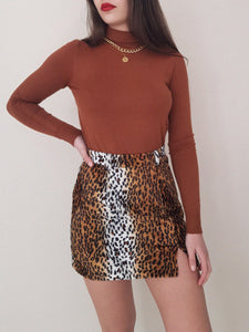 DARK LEOPARD SKIRT