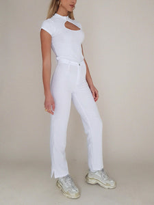 "WHITE ""DINGO"" TROUSERS // WIDE LEG"