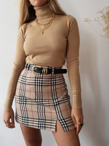 PLAID CUTY SKIRT