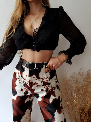 COW STUNNING TROUSERS // WIDE LEG