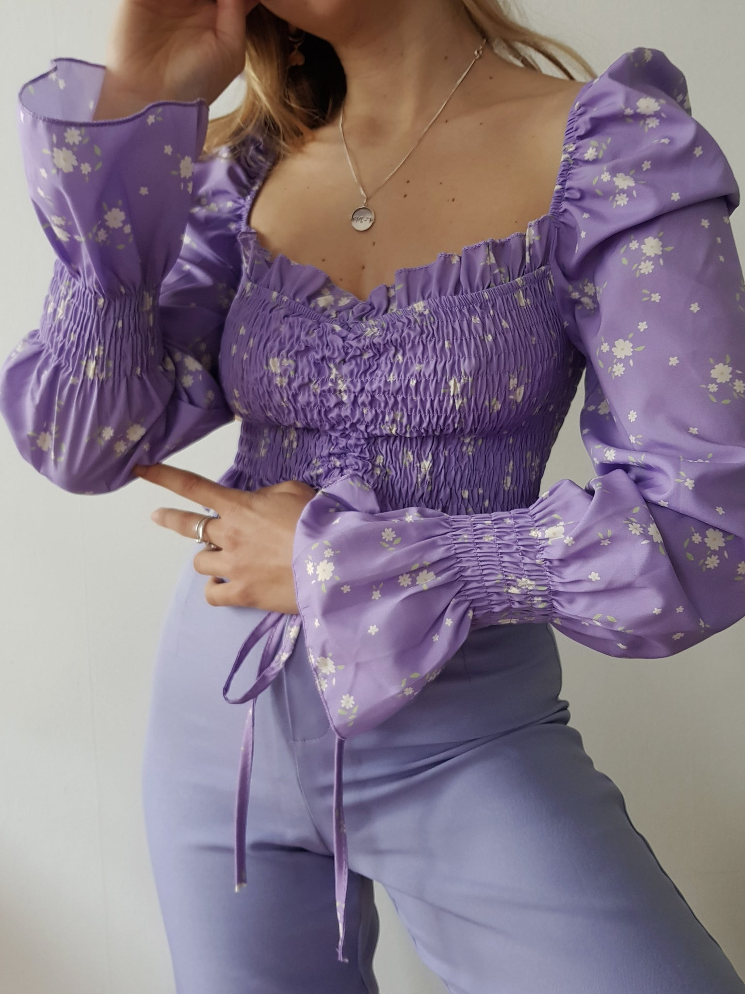 PURPLE STUNNING TROUSERS // WIDE LEG