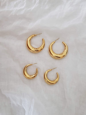 MOONY earrings (stainless)