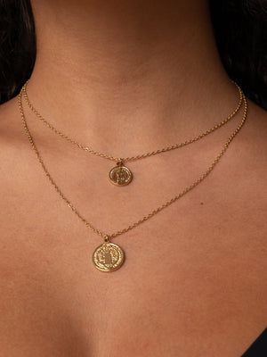COIN NECKLACE // stainless steal