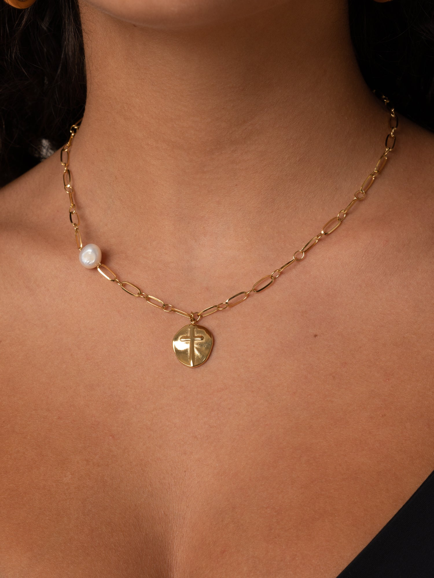 MINI COIN NECKLACE // stainless steal