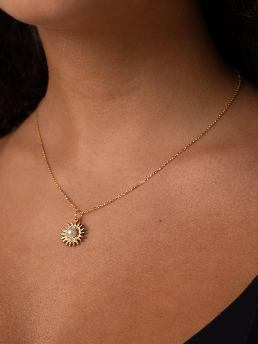 SUN NECKLACE // stainless steal