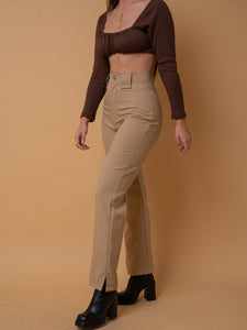 STUNNING TROUSERS CAMEL // WIDE LEG