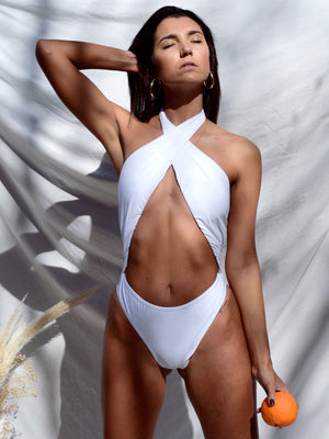 SWIMSUIT COCONUT // WHITE