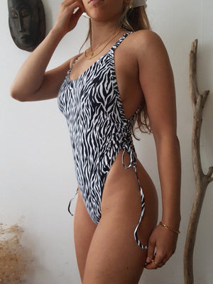 ZEBRA // MOON SWIMSUIT