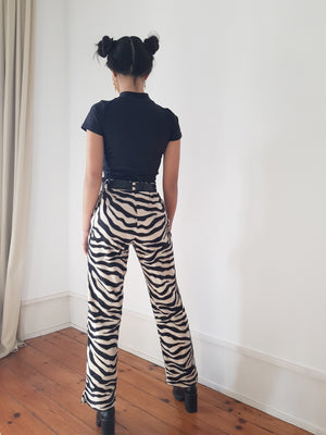 "ZEBRA ""DINGO"" TROUSERS // WIDE LEG"