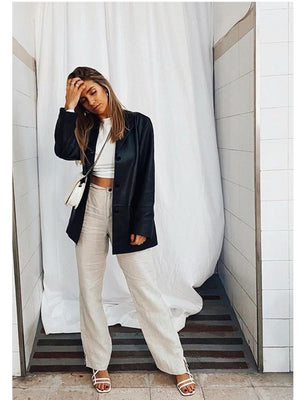 LINEN STUNNING TROUSERS // WIDE LEG
