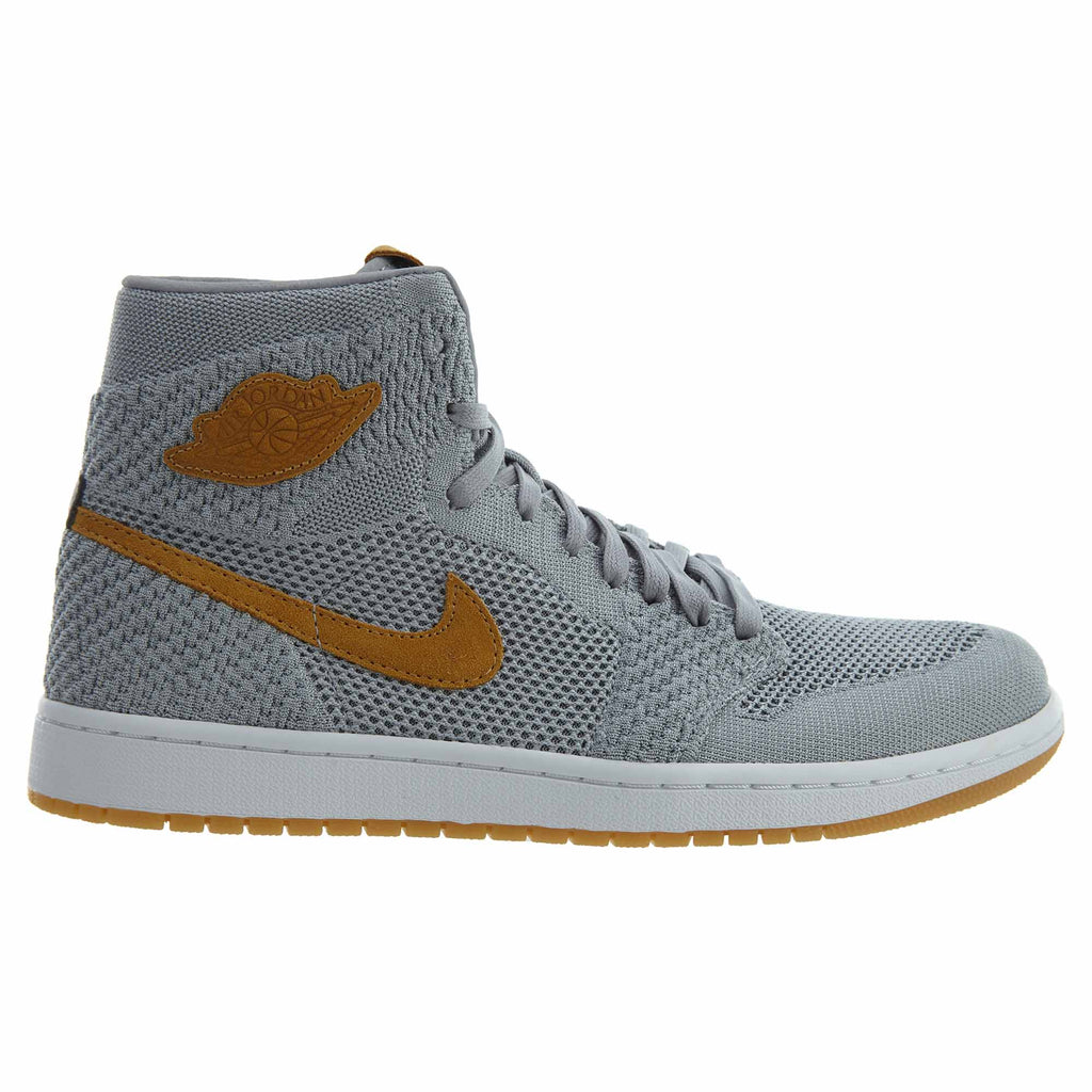 Nike Air Jordan 1 Retro High Flyknit Wolf Grey Mens Style : 919704