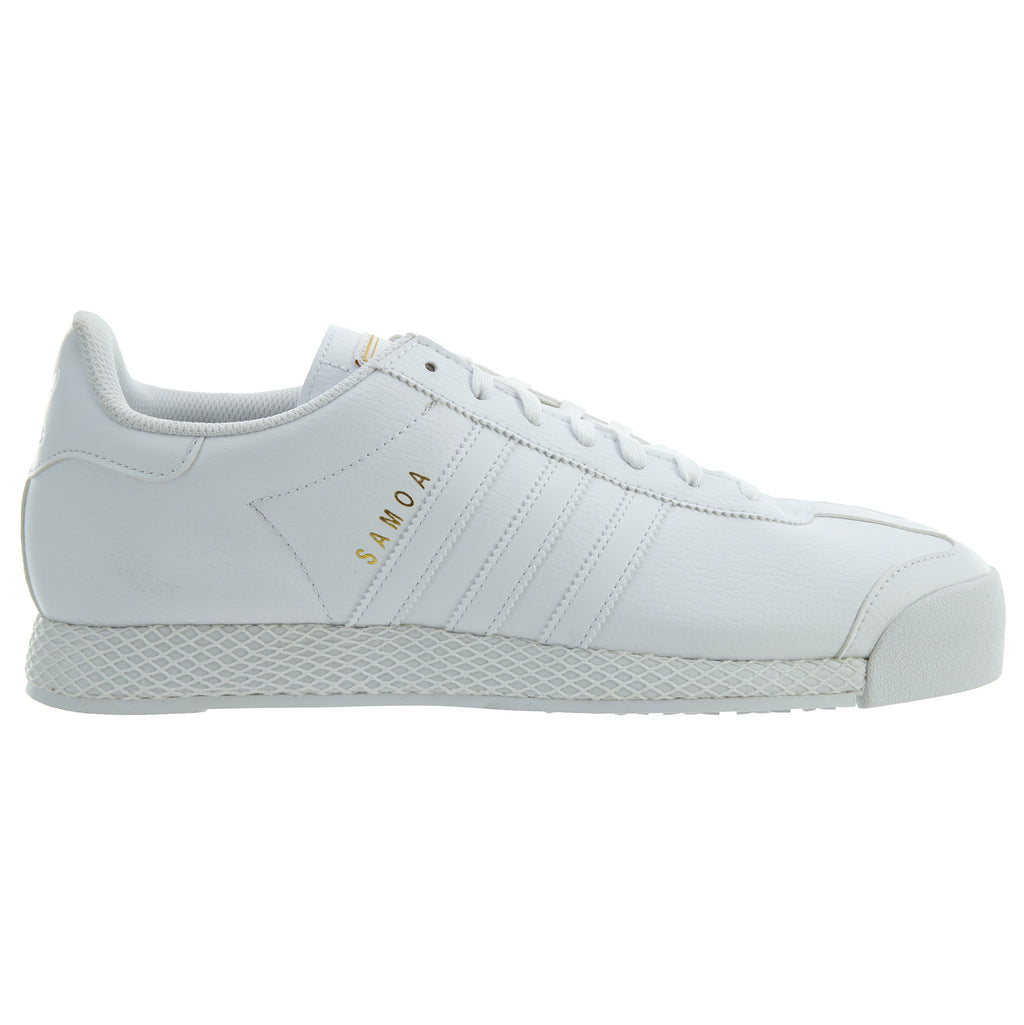 Adidas Samoa White Gold Athletic Casual Shoes Mens Style :F37599