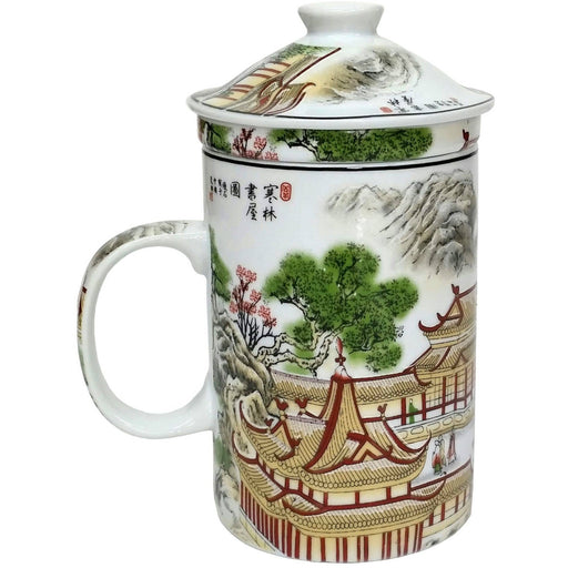 Palaces and Pagodas Chinese Porcelain Infuser Mug - Simply Utopia