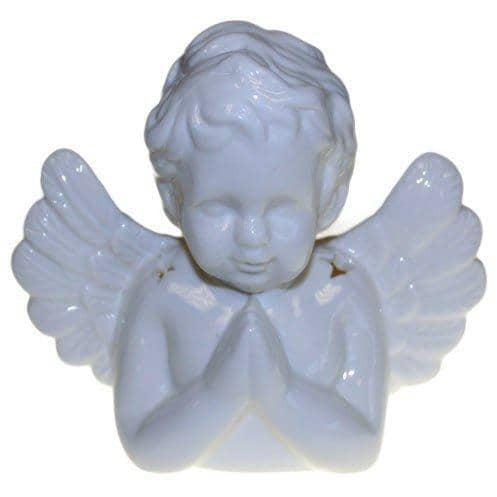 Angel Praying Oil Burner - White - Simply Utopia