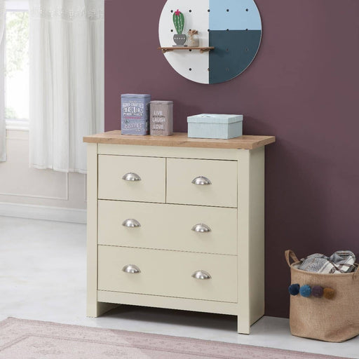 Lisbon 2 Piece Set (2+2 Chest, 2 Draw Bedside) - Simply Utopia